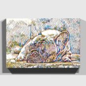 East Urban Home,'Resting French Bulldog' Graphic Art on Wrapped CanvasRRP -£43.99 (15266/8 -