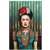World Menagerie,'Frida' Graphic Art Print on Wrapped Canvas RRP -£35.99 (14610/16 -WLME2382)