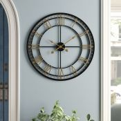 Borough Wharf,Oversized 80cm Wall ClockRRP -£76.99 (15368/3 -BWHA1466)