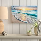 East Urban Home,Sea at Sunset Graphic Art on CanvasRRP -£42.99 (15266/13 -EXXP1873)