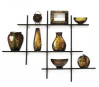 17 Stories,Shelf Scene Metal Wall DécorRRP -£57.99 (15368/16 -HAZM6328)