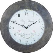 Roger Lascelles Clocks,49.6cm Large Lalande with Effect Border Wall ClockRRP -£34.82 (15368/20 -