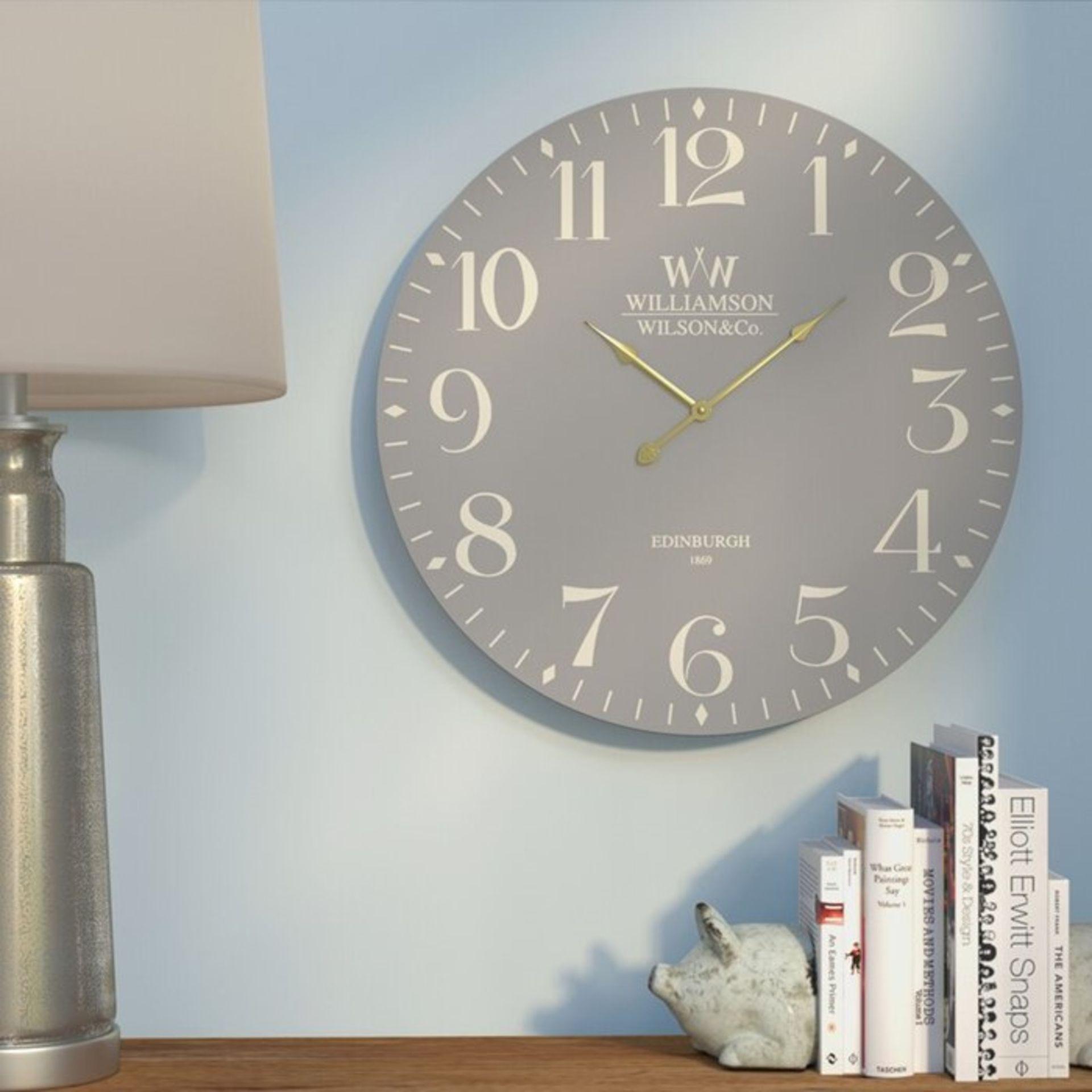 Marlow Home Co.,Cobden 60cm Wall ClockRRP -£33.99 (15368/21 -COHM1449)