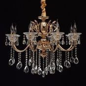 Home Loft Concept, 8-Light Candle-Style Chandelier - RRP £207.99 (HECO8914 - 16208/1) 6F