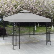 Sol 72 Outdoor, 3X3m Garden Gazebo Top Cover Roof Replacement Tent Canopy Fabric 2-Tier 1-Tier (