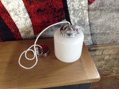 ENDON GINA WHITE GLASS PENDANT (EX DISPLAY)
