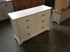 Banbury White Painted 6 Drawer Chest (DAMAGED) (I47 -BP-6DC-W)
