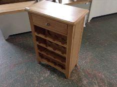Gloucester Oak Wine Cabinet (DAMAGED) (I59 -GAO-WC)