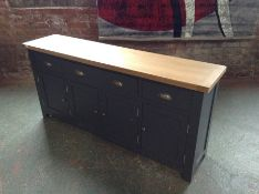 Hampshire Blue 4 Door Sideboard (DAMAGED SCUFFED) (I14 -HP-4DS-B)