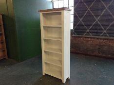 Hampshire WHITE Painted Oak Large Bookcase (I42 -WXF P27)