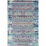 Longweave,Vintage Kashan Blue Rug RRP -£86.99 (14006/4 -LOWV2842)