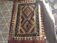 Bloomsbury Market,Wheeler Handmade Kilim Red/Blue/