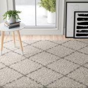 Fjørde & Co,Helena Cream Area Rug RRP -£54.99 (120x170cm0 (9664/35 -GHEN7097)