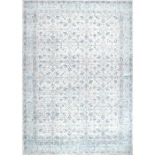 Latitude Vive,Pittwater Aqua/Grey Area Rug 4 ft x 6 ft RRP -£62.99 (10265/16 -BUNR1124)