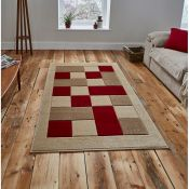 Savoy House,Matrix Beige/Red Rug RRP -£47.99 (9664/16 -SVH2628)