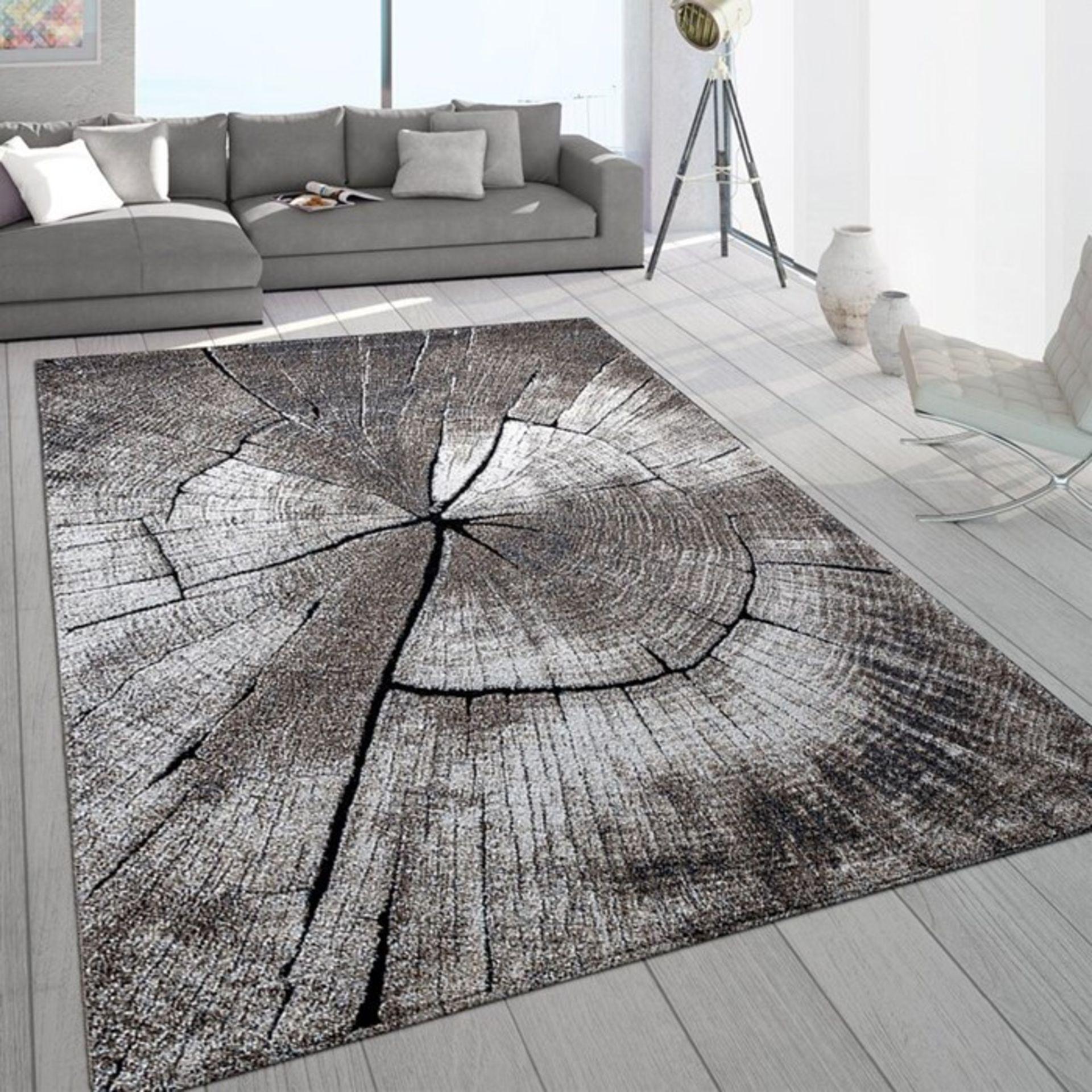 Smyrna Grey/Brown Rug Rug Size: Rectangle 200 x 290cm (HL7 - 3/2 -ALAS6408.32402806)