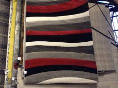Rad Wave Power Loom Red/Grey/Black Rug Rug Size: Rectangle 120 x 160cm (HL7 - 4/14 -BLEL5091.