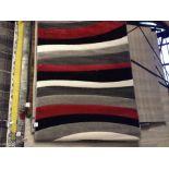Rad Wave Power Loom Red/Grey/Black Rug Rug Size: Rectangle 120 x 160cm (HL7 - 4/14 -BLEL5091.