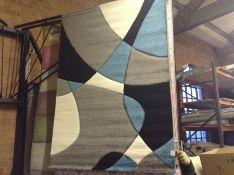 Teppich Chaya in Türkis/Grau/Schwarz Teppichgröße: Rechteckig 120 x 170 cm (HL7 -1/32 -ALAS6381.