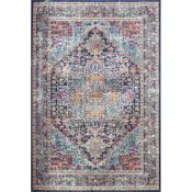 Northwich Power Loom Dark Blue Rug Rug Size: Rectangle 153 x 232cm (HL7 - 3/17 -MISN1039.38770335)