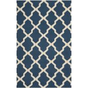 Darbonne Hand-Tufted Wool Navy Blue/Ivory Rug Rug Size: Rectangle 182 x 274cm (HL7 - 3/5 -SAFA4593.