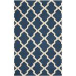 Darbonne Hand-Tufted Wool Navy Blue/Ivory Rug Rug Size: Rectangle 182 x 274cm (HL7 - 3/5 -SAFA4593.