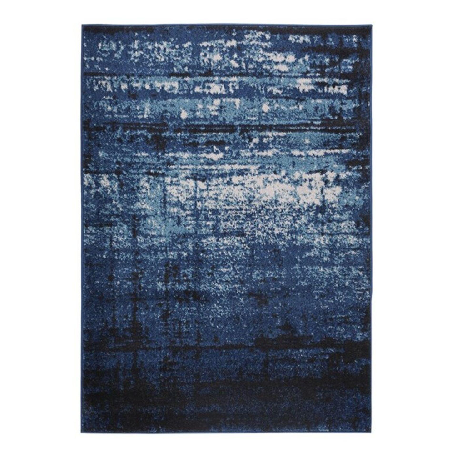Sydney Vintage Distressed Crosby Blue Rug Rug Size: Rectangle 160 x 220cm (HL7 - 3/18 -WEWO1031.
