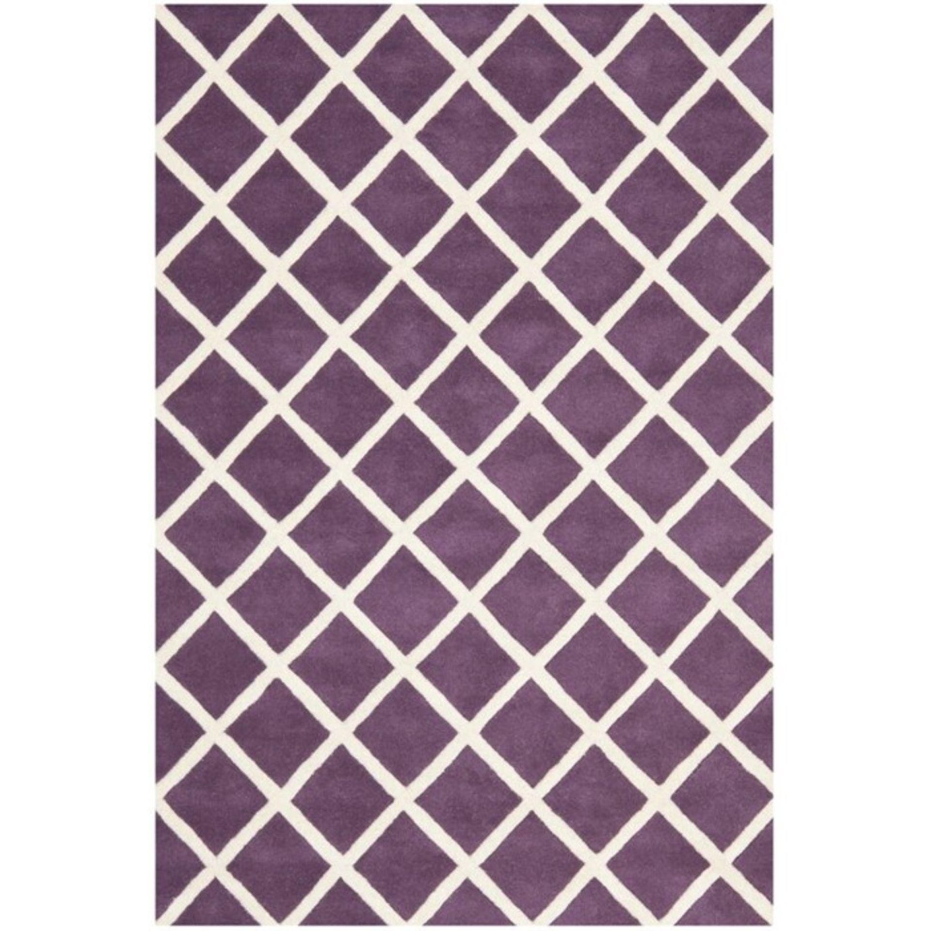 Benford Handmade Tufted Wool Purple Rug Rug Size: Rectangle 182 x 274cm (HL7 - 3/19 -QQ6536.
