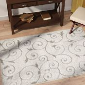 Marlow Home Co.,Pipers Ivory Vine Swirls Area Rug 100CM X 152 CM RRP -£56.99 (12092/36 -COHM1620)