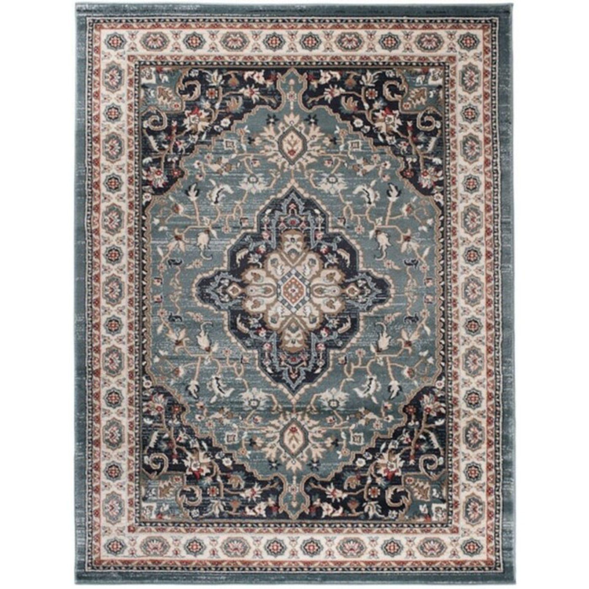 Longweave,Zeke Green/Blue Rug RRP -£61.99 (120x170cm) (14006/46 -LOWV1593)