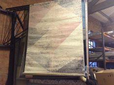 Acker Beige/Pink/Grey Rug Rug Size: Rectangular 120 x 170cm (HL7 -1/35 -PSCH1263.47252759)