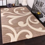 17 Stories,Kamrada Beige/Cream Rug ,RRP - £133.99 (ALAS6382 - 17454/12)
