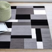 Elna Tufted Grey/Black/White Indoor/Outdoor Rug Rug Size: Rectangle 160 x 230cm (HL7 -1/20 -