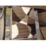 Teppich Ariah in Braun/Creme/Beige Teppichgröße: Rechteckig 120 x 170 cm (HL7 -1/39 -ALAS6435.