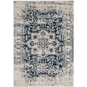 Safavieh,Josephine Cream/Navy Area Rug RRP -£54.99 (3ftx5ft)(9664/26 -QQ7743)