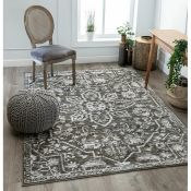 Dazzle Power Loom Grey/White Rug Rug Size: Rectangle 120 x 160cm (HL7 -1/15 -XBRB1125.52462842)