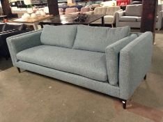 TEAL PATTERNED LARGE 3 SEATER SOFA WM26 K244