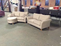 BISCUIT FABRIC 2 SEATER CHAISE & 2 1/2 SEATER SOFA