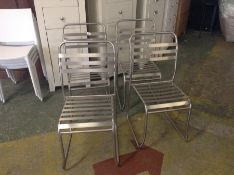 X4 METAL STACKING CHAIRS