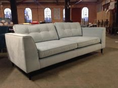 EX SHOWROOM TURQUOISE LARGE 3 SEATER SOFA