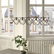Dar Lighting, Midi 5-Light Kitchen Island Pendant (BLACK & COPPER) - RRP £81.19 (DLI7429 - 10469/