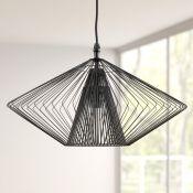 KARE Design, Modo Wire 1-Light Geometric Pendant (BLACK) - RRP £79.95 (KARE2653 - 10469/19) 7E