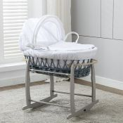 Harriet Bee, Giovanna Wicker Moses Basket - RRP £59.99 (MCTR1040 - 15435/5) 1D