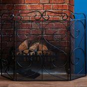 Alwyn Home, Tapton Steel Fireplace Screen - RRP £16.82 (WLDH1949 - 15435/24) 1A