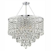 Dar Lighting, Pescara 5-Light Crystal Chandelier (POLISHED CHROME) - RRP £359.99 (DLI7455 - 10469/