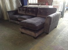 DARK GREY SADDLE LARGE 3 SEATER CHAISE HH23-693084