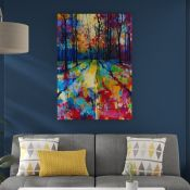 East Urban Home, 'Mile End Woods' by Doug Eaton - Painting Print on Canvas - RRP £102.99 (APET3053 -