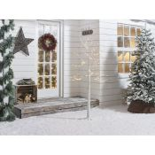 The Seasonal Aisle, Birch Artificial Christmas Tree with 64 Warm White Lights with Stand - RRP £31.