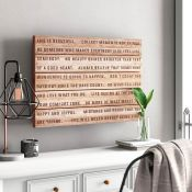 Brambly Cottage, 'Life is Beautiful' - Typography Print on Wood - RRP £49.99 (FZS2254 - 20609/4) 1G