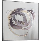 East Urban Home, 'Opal Abstract' Framed Watercolour Painting Print on Canvas - RRP £104.99 (HADO1257